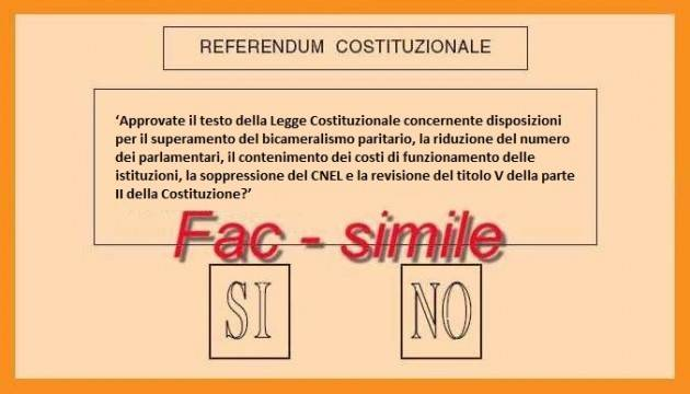 Image result for scheda referendum costituzionale 2016