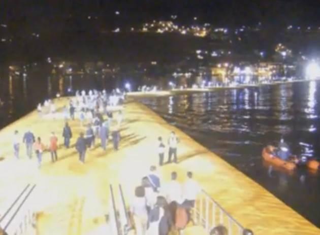 Webcam in diretta 24 ore su 24 sulla Passerella di Christo (Video)