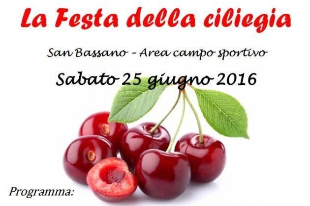 San Bassano (Cremona), sabato la la Festa della Ciliegia tra cibo e musica