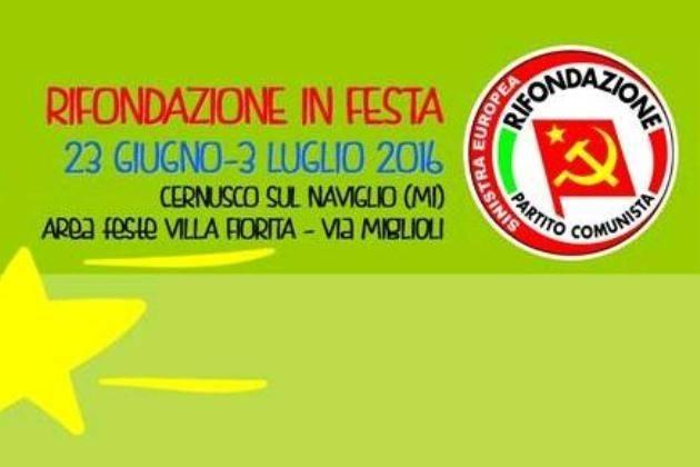 Cernusco sul Naviglio (MI), giovedì Lidia Menapace a 'Rifondazione in Festa'