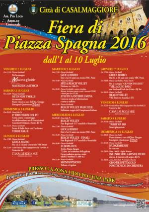 Casalmaggiore  Fiera di Piazza Spagna 2016 dal 1 al 10 luglio 2016
