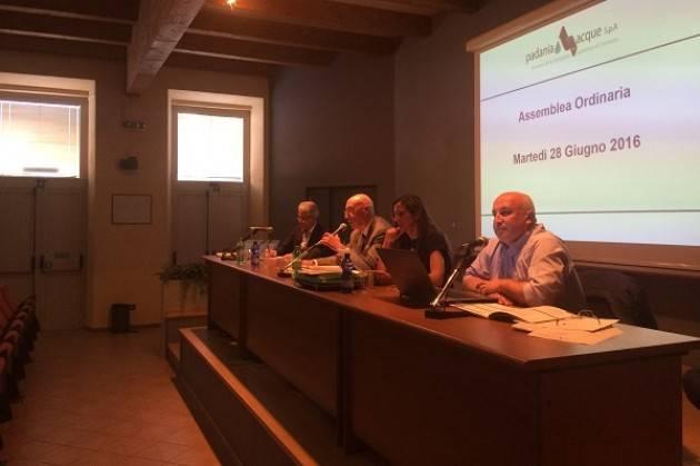 Padania Acque S.p.A.: approvato all'unanimità  il miglior bilancio di sempre dall'assemblea dei soci