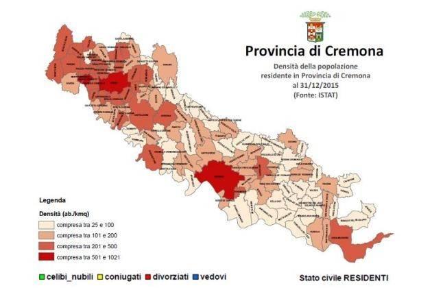 Provincia di Cremona, elaborato il rapporto sulla popolazione residente al 2015