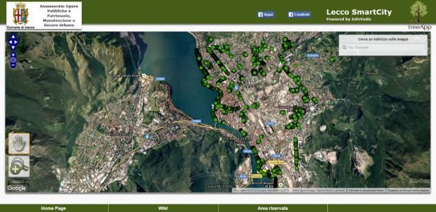 App per consultare il patrimonio verde urbano di Lecco