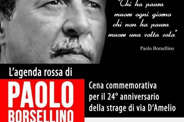Cremona, martedì 19 luglio al Carrobbio cena commemorativa per il giudice Paolo Borsellino