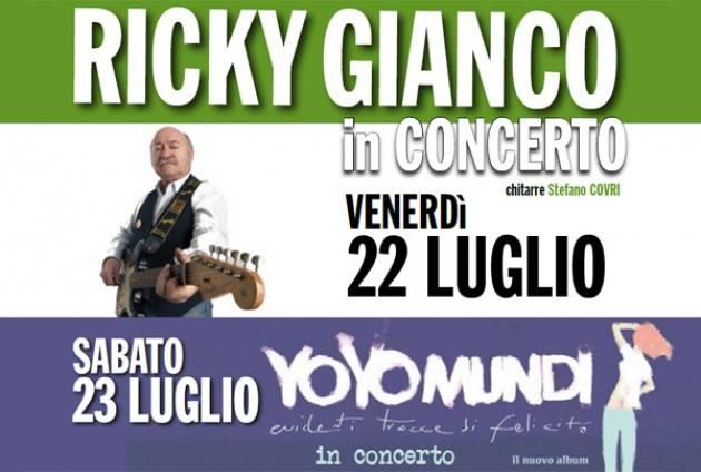 Ricky Gianco in concerto al Verri