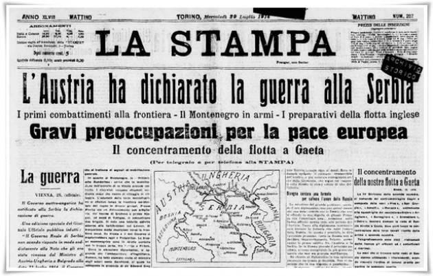 AccaddeOggi   #28luglio 1914 – Scoppia la prima guerra mondiale: l'Austria-Ungheria dichiara guerra alla Serbia