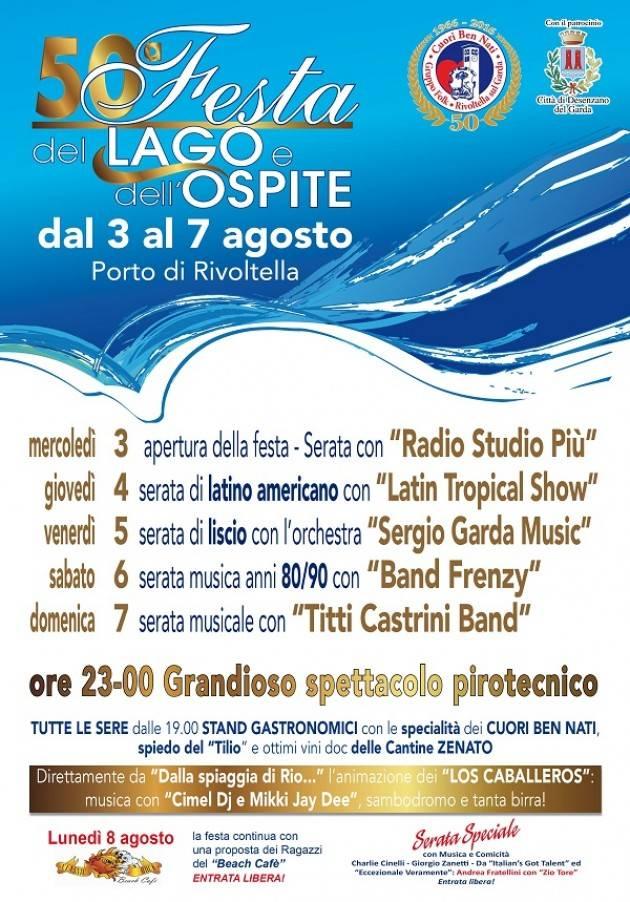 Al Porto di Rivoltella sul Garda 50ª Festa del Lago e dell'Ospite dal 3 al 7 agosto 2016