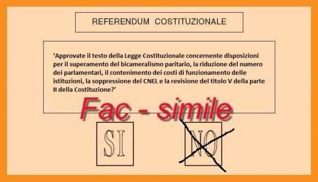 Referendum Costituzionale : 'Quando gli altri volano basso, è tempo di volare alto' di Marco Pezzoni