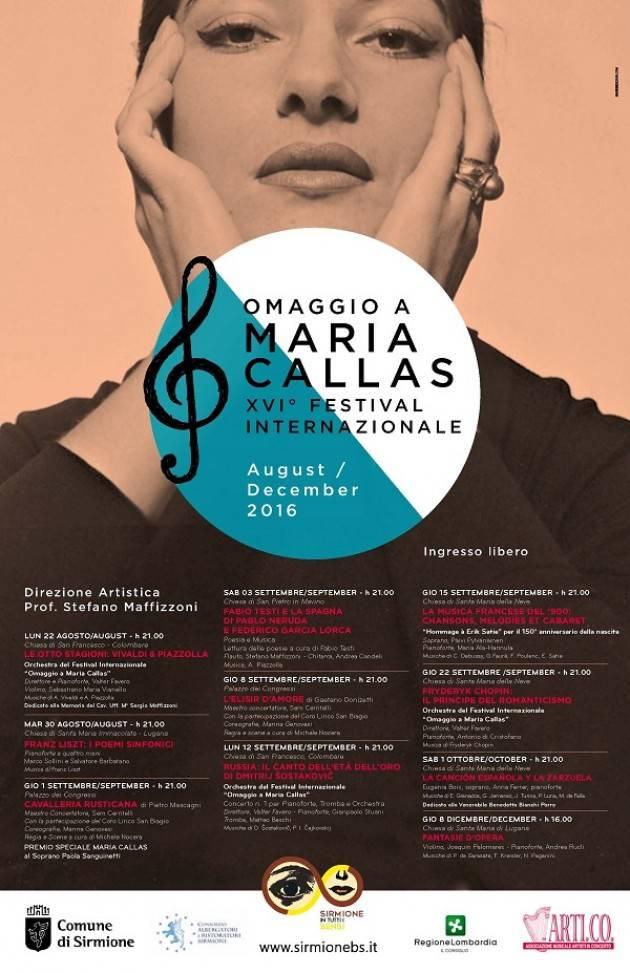 A Sirmione XVI Festival internazionale 'Omaggio a Maria Callas'