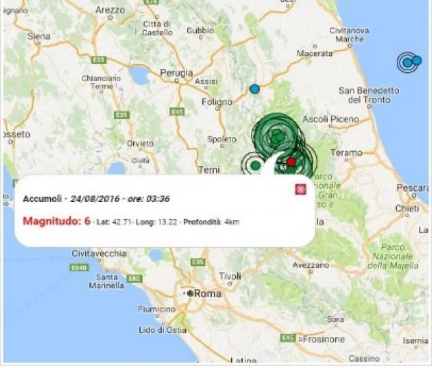 Terremoto devastante in centro Italia. Ora le vittime sono 250 Scossa 6.0 Appello ai donatori dell'AVIS