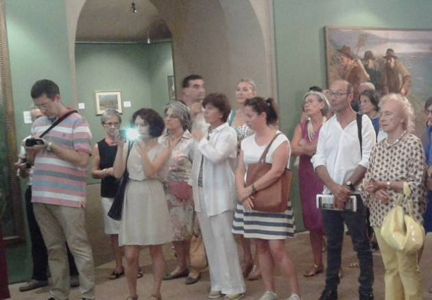 Alcuni quadri della Fondazione Città di Cremona alla mostra 'Vita dei Campi' di Orzinuovi