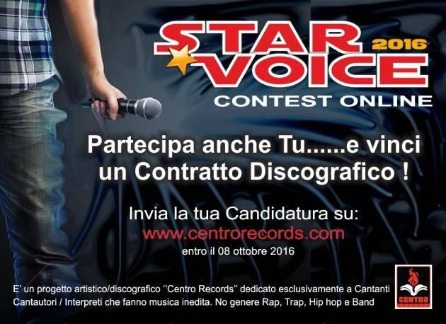 STAR VOICE 2016 Il Contest online per Cantanti-Cantautori-Interpreti