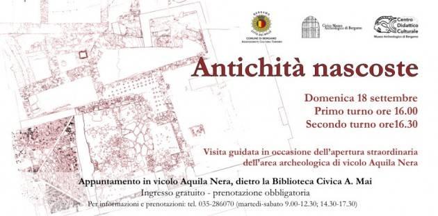 Apertura straordinaria dell'area archeologica di vicolo Aquila Nera