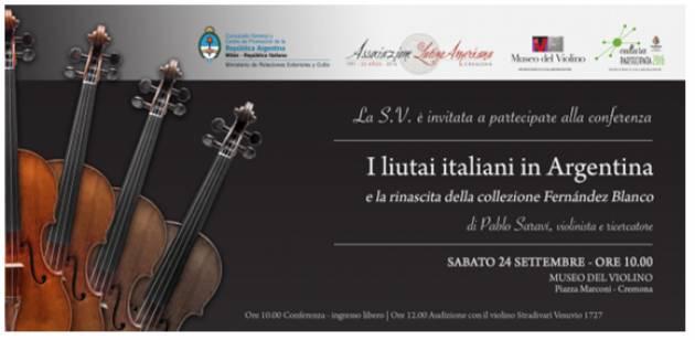 A Cremona I liutai italiani in Argentina e la rinascita dalla Collezione Fernández Blanco