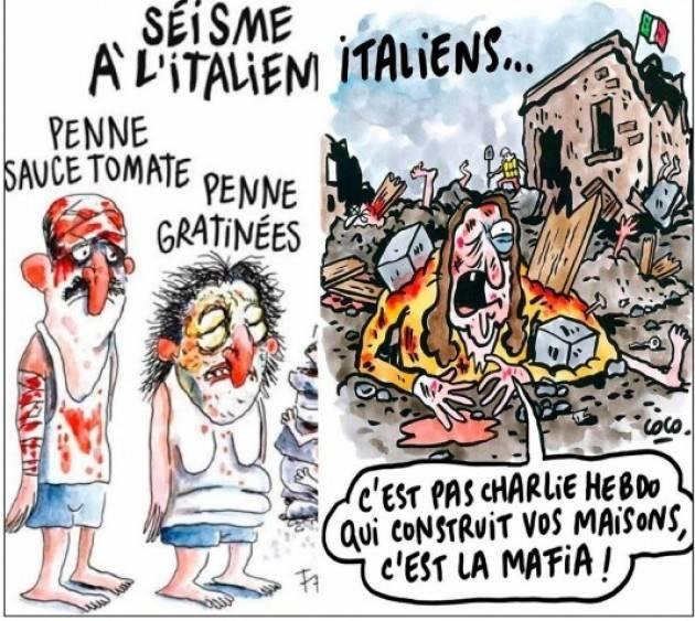 Sondaggio L'87,71% è d'accordo che Amatrice abbia querelato Charlie Hebdo per le vignette sul terremoto