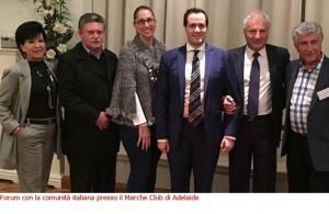 Fedi(Pd) Due giorni ad Adelaide dedicati ai rapporti Italia e Australia