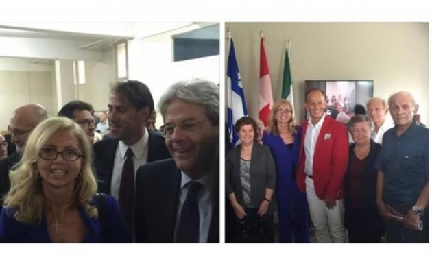 Fucsia Nissoli Fitzgerald  Tra gli italiani di Montreal con Gentiloni