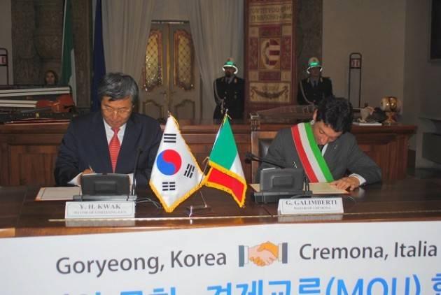 Torna a Cremona la delegazione della Corea del Sud