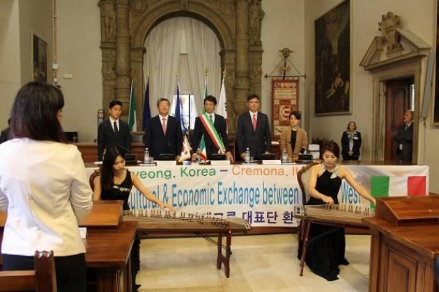 Cremona Accolta a Palazzo Comunale la delegazione coreana