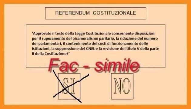 Referendum Costituzione  Da militante dalla Cisl mi attendo  l'invito a votare SI di Silvano Maffezzoni