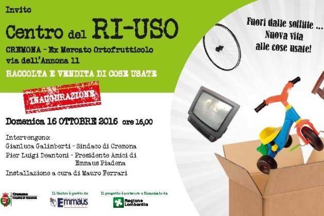 Cremona, il Centro del RI-USO diventa realtà, domenica l'inaugurazione