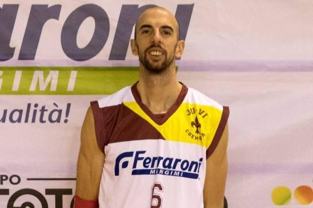 Cremona, Juvi Basket: si ferma il capitano Cazzaniga