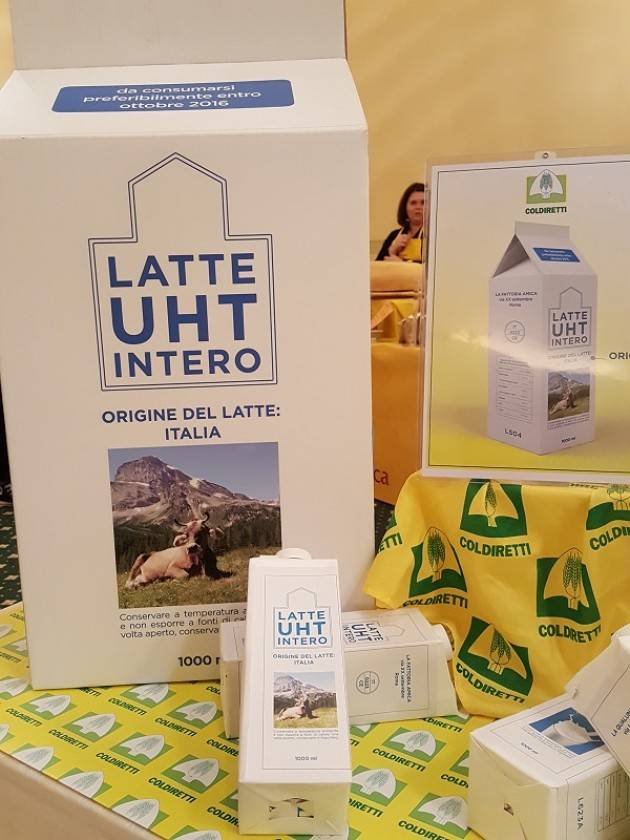 UE Coldiretti: storico via libera a etichetta Made in Italy sul latte