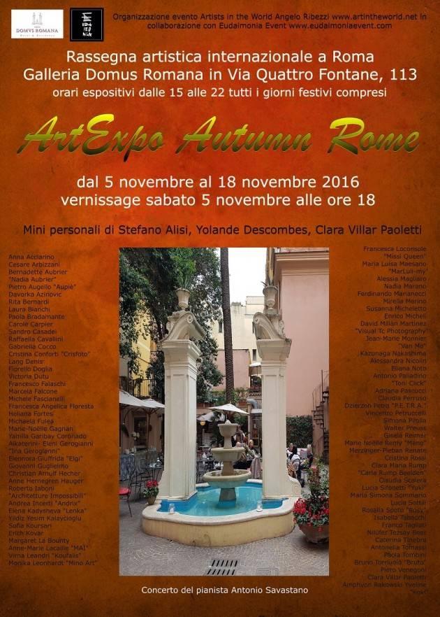 ArtExpo Autumn Rome - Si inaugura sabato 5 novembre