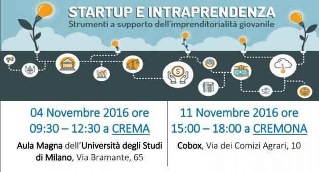 Crema Startup&Intraprendenza –Fall Edition