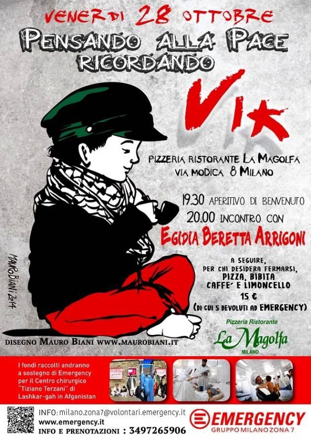 Milano Emergency organizza il 28 ottobre un incontro con la madre di Vik Arrigoni