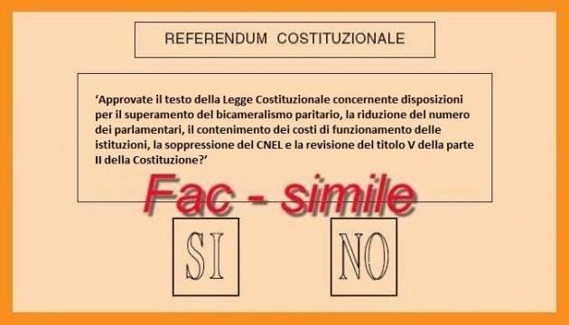 Referendum Costituzionale Due opinioni : io voto SI ed io voto NO