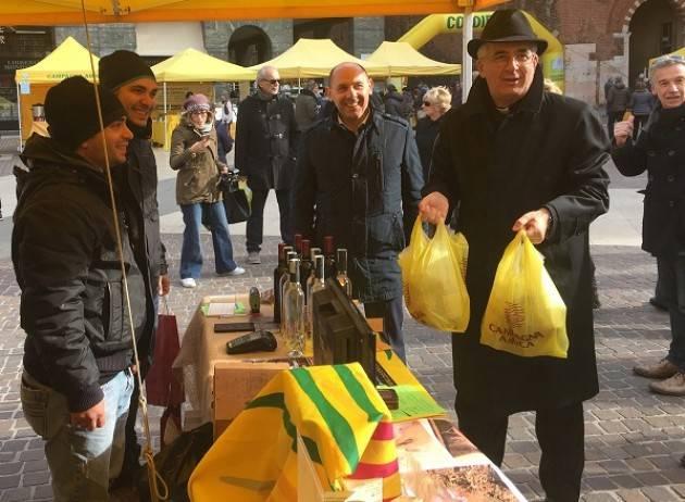 Coldiretti Sant'Omobono, l'abbraccio di Cremona all'agricoltura colpita dal terremoto
