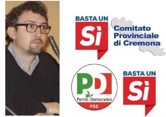 Referendum Costituzionale 4 dicembre 2016 Lettera  di Matteo Piloni (PD) agli iscritti