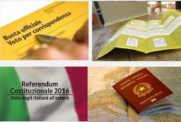 Referendum Insomma all'estero il voto non è segreto? Di Gian Carlo Storti