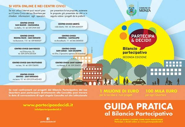 Un milione di euro per i quartieri di Monza (Video)