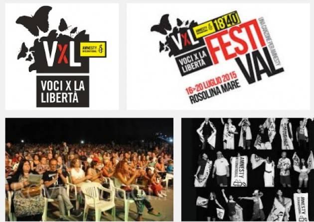 Amnesty 'Voci per la Libertà' festeggia il compleanno della Dichiarazione universale diritti umani