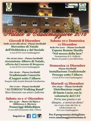 Gli eventi di Natale a Casalmaggiore 2016.