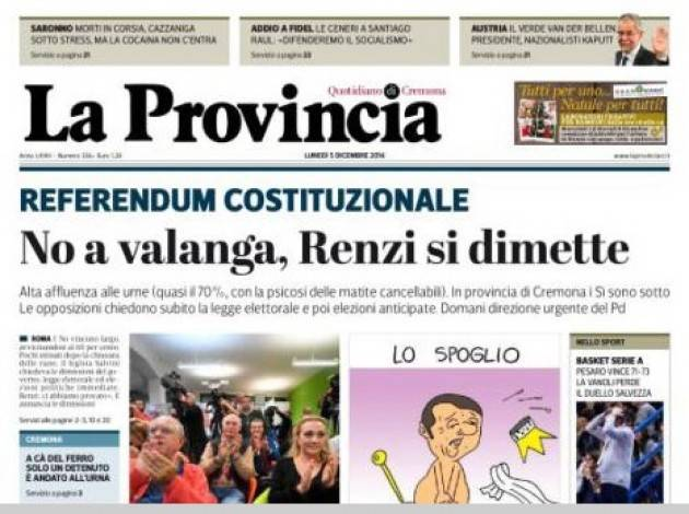 Referendum Vince il NO  Anche a Cremona  I Commenti dei Cremonesi