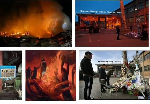 AccaddeOggi 6 dicembre 2007 - A Torino un incendio alla ThyssenKrupp provoca la morte di 7 operai