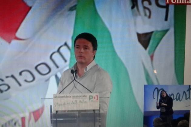 Assemblea PD a Roma Renzi Propone il Mattarelum ed il Congresso a scadenza naturale  di ottobre