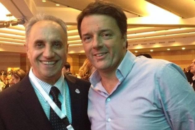 Roma Pasquale Nestico (Pd Usa) incontra Matteo Renzi