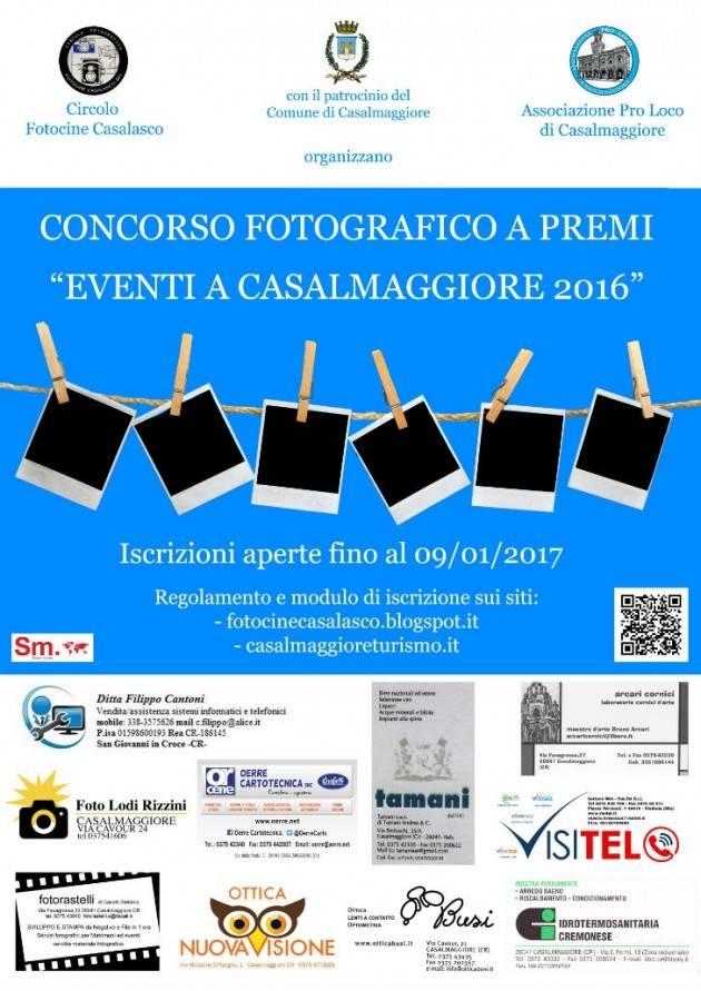 Concorso fotografico 'Eventi a Casalmaggiore 2016' Ci si può iscrivere fino al 9 gennaio 2017