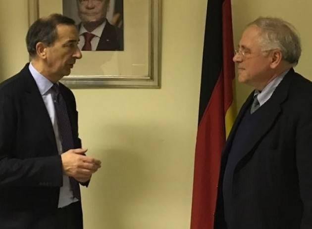 Il sindaco Sala in visita al Consolato Tedesco: Milano solidale con Berlino