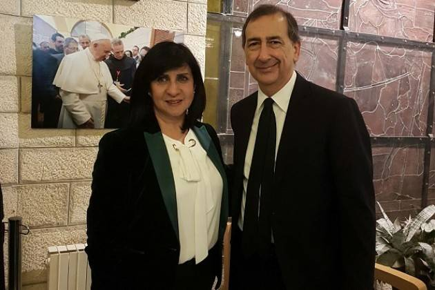 Milano Giuseppe Sala incontra i sindaci di Betlemme e Tel Aviv