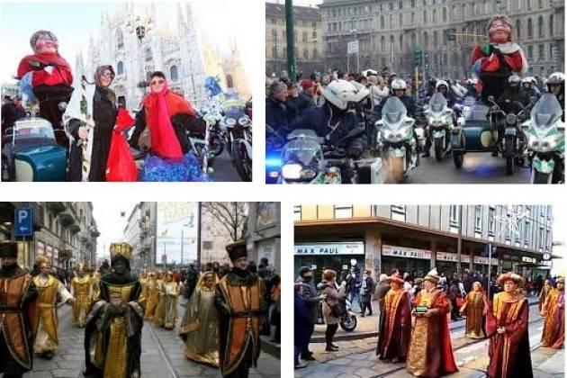 Epifania a Milano Corteo di Motociclisti e rievocazioni storiche. Gli appuntamenti della Befana 2017