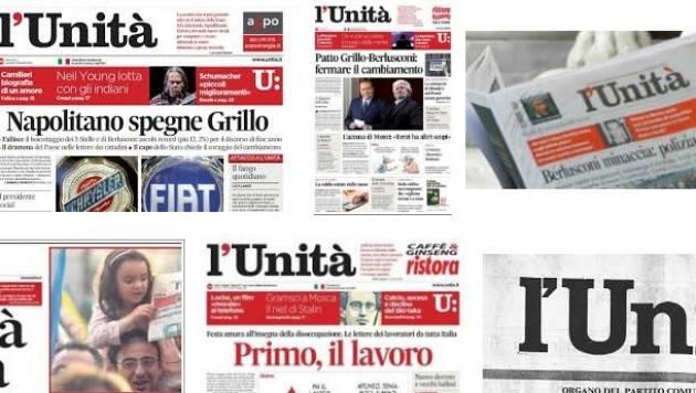Salviamo il giornale fondato da Antonio Gramsci:  l'UNITA' di Francesco Lena