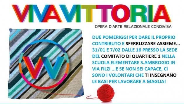 Cremona  Il Comitato di Quartiere 1 ha aderisce  all'iniziativa 'VivaVittoria'