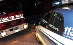 Costa Masnaga - Auto in fiamme, provvidenziale intervento di un Poliziotto.