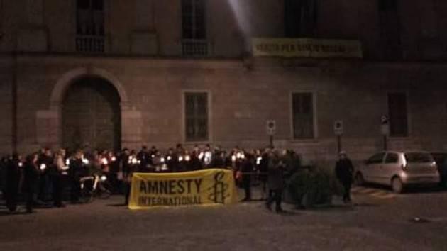 Amnesty Cremona  Ieri  Mercoledì 25 gennaio  si è tenuta la  fiaccolata in onore a Giulio Regeni
